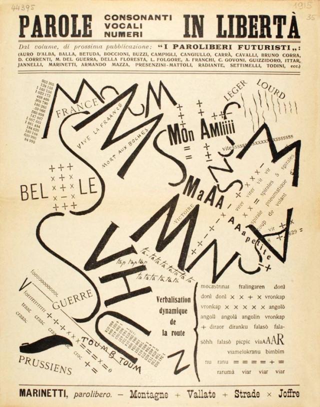F. T. Marinetti: - Montagne + Vallate + Strade x Joffre, 1915